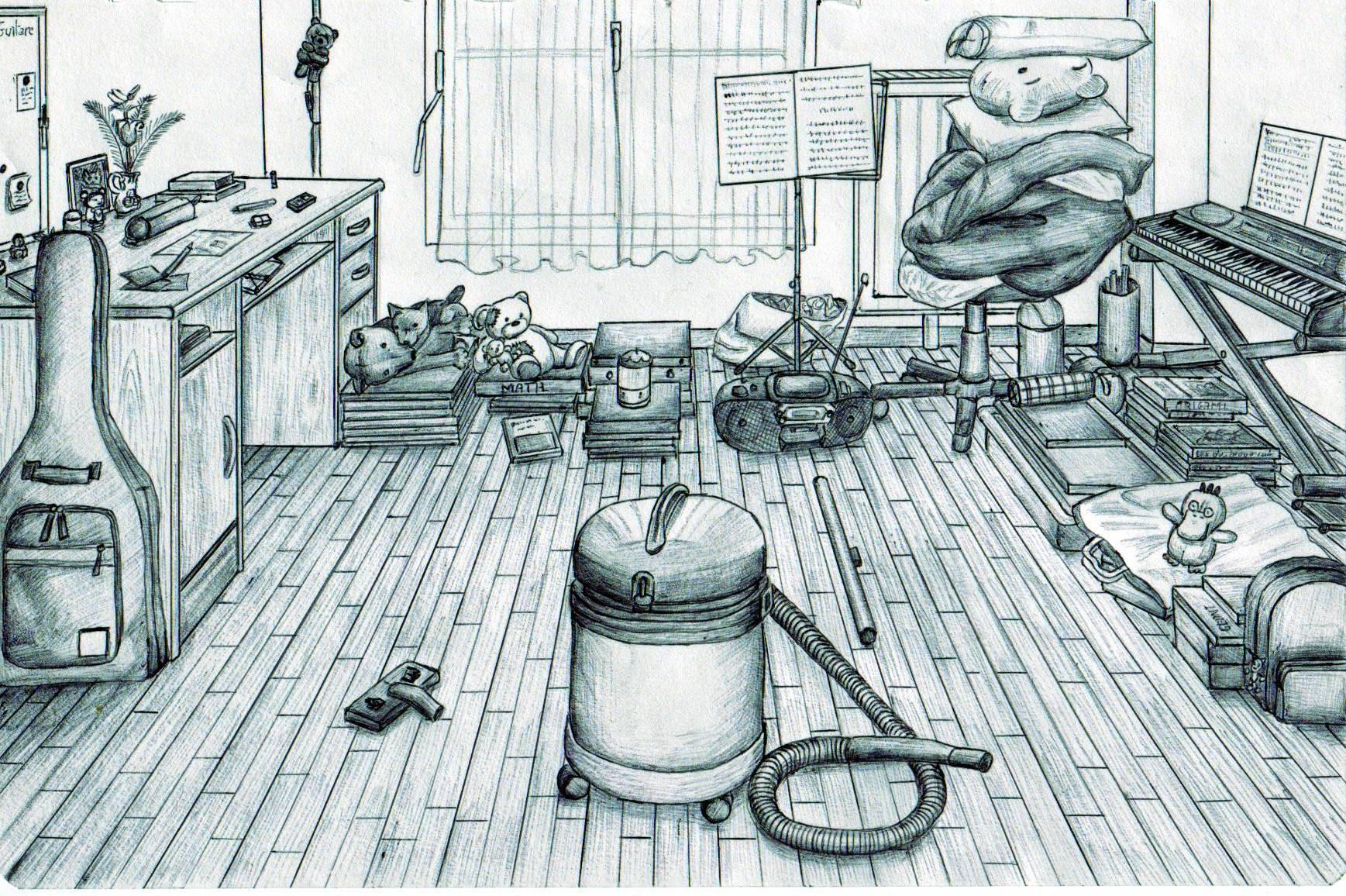dessin de ma chambre - Dessin De Chambre
