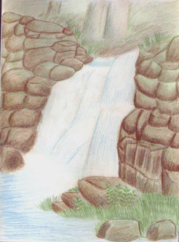 comment dessiner une cascade d eau